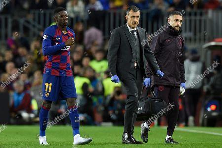 Ousmane Dembele of FC Barcelona injury