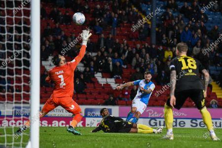 Editorial image of Blackburn Rovers v Brentford, EFL Sky Bet Championship, Football, Ewood Park, Blackburn, UK - 27 Nov 2019