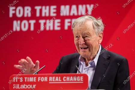 Lord Alf Dubs speaks at the launch of Labour Party's Race and Faith Manifesto at the Bernie Grant Arts Centre in Tottenham, North London.