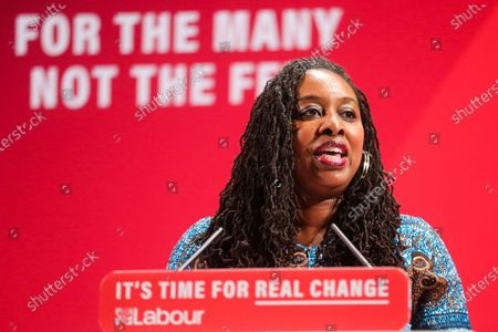 Shadow Women & Equalities Secretary, Dawn Butler speaks at the launch of Labour Party's Race and Faith Manifesto at the Bernie Grant Arts Centre in Tottenham, North London. Dawn Butler launched the Race and Faith consultation at Labour Party conference, which received over 1,700 online responses, and held consultation events across the country to get to the issues affecting Black, Asian and Minority Ethnic (BAME) and faith communities.