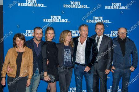 Marilyne Canto, Frederic Quiring, Jeanne Bournaud, Sylvie Testud, Franck Dubosc, Michel Denisot and Laurent Bateau