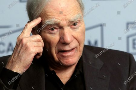 US scriptwriter and story consultant Robert McKee speaks during an interview with Spanish international news agency EFE in Madrid, Spain, 26 November 2019, on the occasion of his visit to the city to give a story seminar at the ECAM Cinematography School.