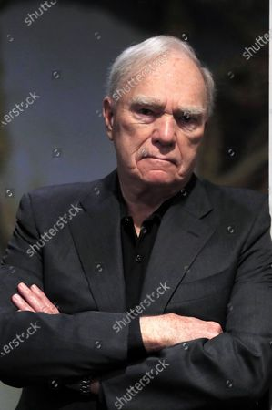 US scriptwriter and story consultant Robert McKee poses during an interview with Spanish international news agency EFE in Madrid, Spain, 26 November 2019, on the occasion of his visit to the city to give a story seminar at the ECAM Cinematography School.