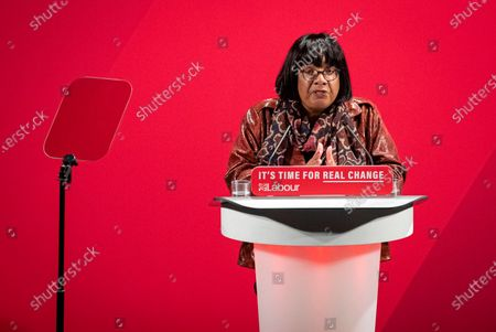 Shadow Home Secretary Diane Abbott speaks at the launch of the Labour Party's new Race and Faith manifesto