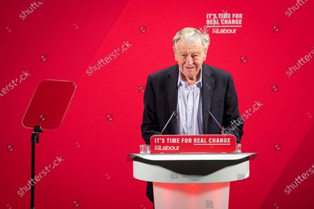 Lord Alf Dubs speaks at the launch of the Labour Party's new Race and Faith manifesto