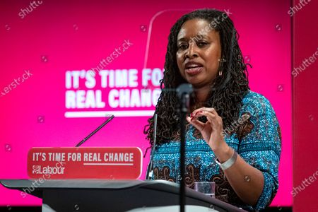 Shadow Women & Equalities Secretary Dawn Butler speaks at the launch of the Labour Party's new Race and Faith manifesto