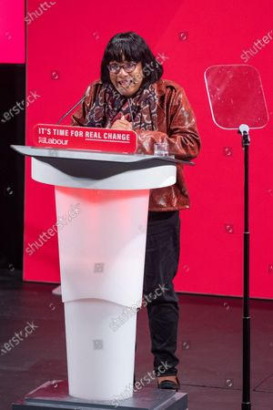 Diane Abbott takes the stand at the Bernie Grant Arts Centre in Tottenham to launch Labour's new Race and Faith manifesto.