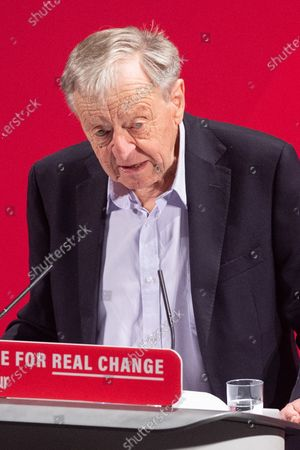Lord Alf Dubs takes the stand at the Bernie Grant Arts Centre in Tottenham as Labour launch their new Race and Faith manifesto