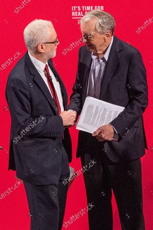 Jeremy Corbyn and Lord Alf Dubs at the Bernie Grant Arts Centre in Tottenham as Labour launch their new Race and Faith manifesto