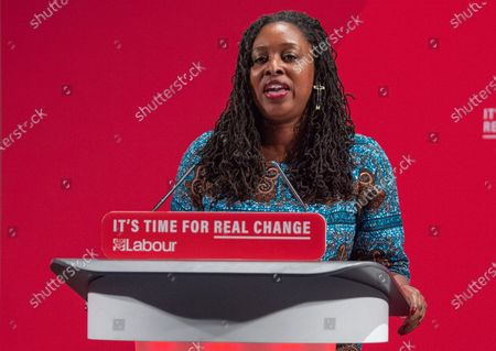 Dawn Butler takes the stand at the Bernie Grant Arts Centre in Tottenham to launch Labour's new Race and Faith manifesto
