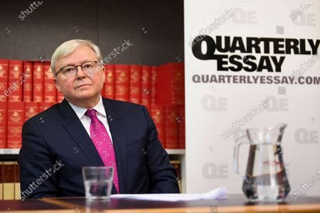 Former Australian Prime Minister Kevin Rudd attends the launch of the Quarterly Essay 'Red Flag, Waking up to China's challenge' written by Peter Hatcher at Parliament House in Canberra, Australian Capital Territory, Australia, 26 November 2019.
