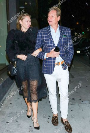 Kym Johnson and Carson Kressley outside Craig's Restaurant in West Hollywood