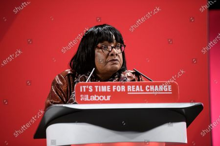 Shadow Home Secretary Diane Abbott speaks at the Labour Party's Race and Faith Manifesto Launch