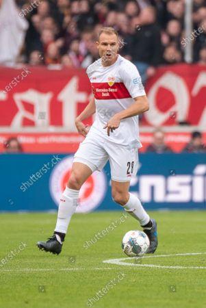 STUTTGART, GERMANY - : Holger Badstuber (VfB Stuttgart) at the Football, 2. Bundesliga 2019/2020 - VfB Stuttgart v Karlsruher SC at the Mercedes-Benz Arena on in Stuttgart, GERMANY
