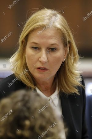 Knesset Member and Opposition Chairwoman Tzipi Livni attends a discussion vote on dissolution of the Israeli Parliament at the  plenum in the Israeli Parliament, the Knesset, in Jerusalem, Israel, 26 December 2018.