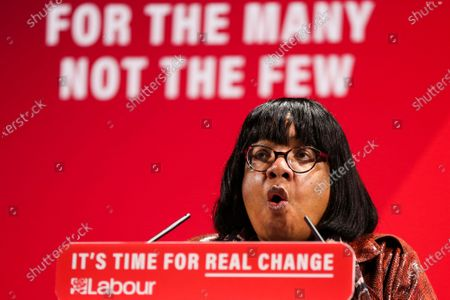 Shadow Home Secretary, Diane Abbott speaking during the launch of the Labour Party's Race and Faith Manifesto