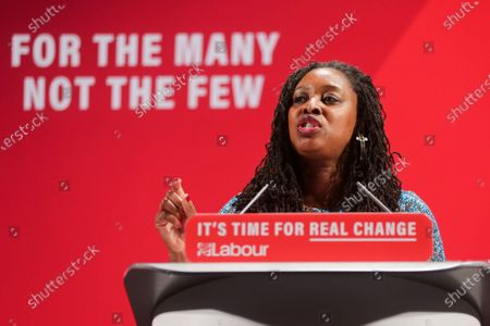 Shadow Women & Equalities Secretary, Dawn Butler speaking during the launch of the Labour Party's Race and Faith Manifesto