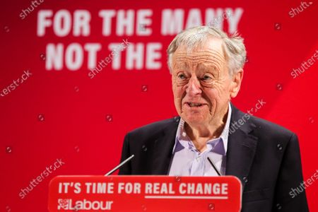 Lord Alf Dubs speaking during the launch of the Labour Party's Race and Faith Manifesto