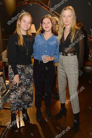 Stock Photo of Maisie Vere Niccoll, Marina Hambro and Emily Steel