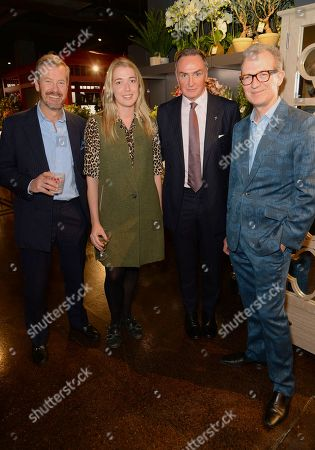 Stock Image of Ivar Mountbatten, Angelica Hicks, James Coyle and Ashley Hicks