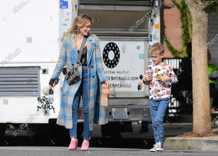 Stock Photo of Hilary Duff and Luca Cruz Comrie
