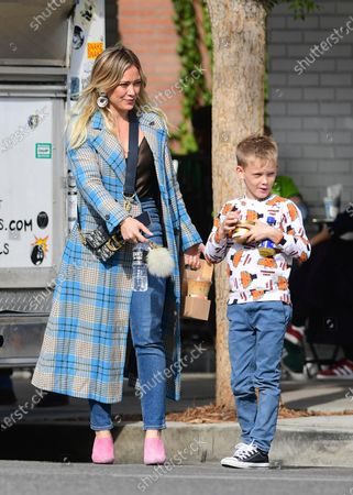 Stock Picture of Hilary Duff and Luca Cruz Comrie
