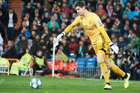 Stock Photo of Real Madrid goalkeeper Thibaut Courtois