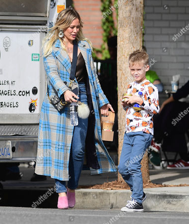 Stock Image of Hilary Duff and Luca Cruz Comrie