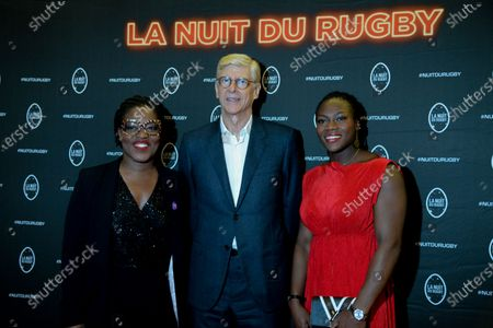 De gauche a droite - Claudia Tagbo, Arsene Wenger and Clarisse Agbegnenou