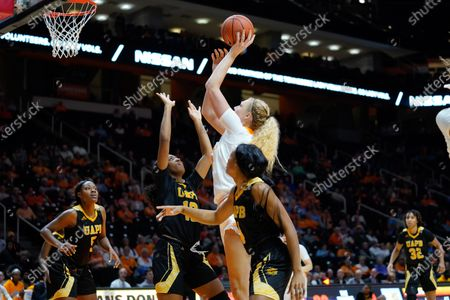 Emily Saunders #31 of the Tennessee Lady Vols shoots the ball during the NCAA basketball game between the University of Tennessee Lady Volunteers and the University of Arkansas at Pine Bluff Lady Golden Lions at Thompson Boling Arena in Knoxville TN Tim Gangloff/CSM
