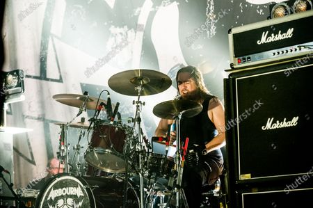Editorial photo of Airbourne in concert at O2 Kentish Town Forum, London, UK - 26 Nov 2019