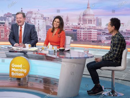 Stock Photo of Piers Morgan and Susanna Reid with Malcolm Gladwell