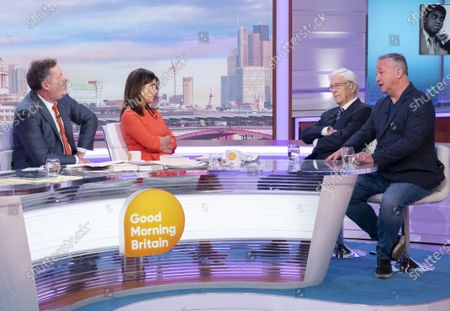 Piers Morgan, Susanna Reid, Sir Michael Parkinson and Mike Parkinson