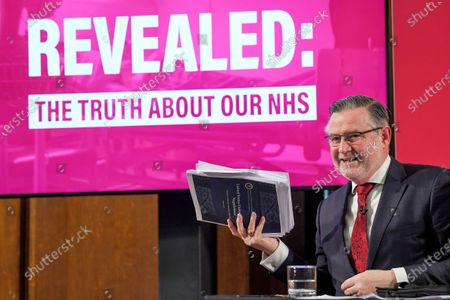 Stock Photo of Barry Gardiner makes a speech on the NHS