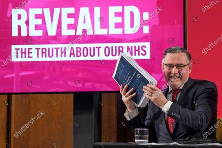 Barry Gardiner makes a speech on the NHS