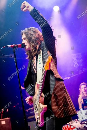 Editorial photo of Tyler Bryant & The Shakedown in concert at O2 Kentish Town Forum, London, UK - 26 Nov 2019