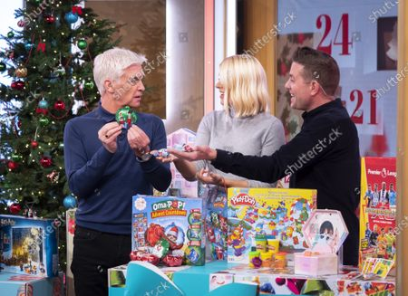 Phillip Schofield and Holly Willoughby with Steve Wilson