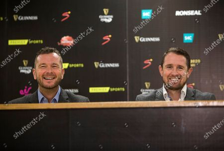 Premier Sport's Sean Holley and Shane Williams.