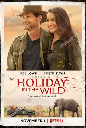 Holiday in the Wild (2019) Poster Art. Rob Lowe as Derek and Kristin Davis as Kate