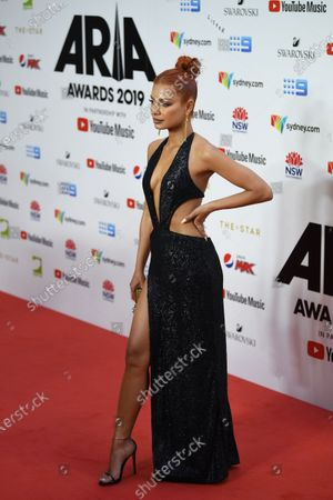 Havana Brown arrives for the 33rd Annual ARIA Music Awards at The Star in Sydney, Australia, 27 November 2019.