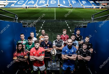 Pictured from (L-R Back Row) Luke Marshall (Ulster), Ruan Pienaar (Toyota Cheetahs), Rhys Patchell (Scarlets) and Ryan Wilson (Glasgow Warriors). (L-R Middle) Alberto Sgarbi (Benetton), Tiernan O'Halloran (Connacht), Jamie Ritchie (Edinburgh), James Hook (Ospreys), James Botham (Cardiff Blues) and Tommaso Castello (Zebre). (L-R Front) Howard Mnisi (Southern Kings), Jack O'Donoghue (Munster), Scott Fardy (Leinster) and Rhodri Williams (Dragons)