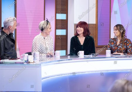 Martin Kemp and Shirlie Holliman with Janet Street-Porter and Stacey Solomon