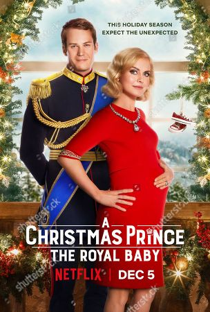 Stock Picture of A Christmas Prince: The Royal Baby (2019) Poster Art. Ben Lamb as King Richard and Rose McIver as Queen Amber