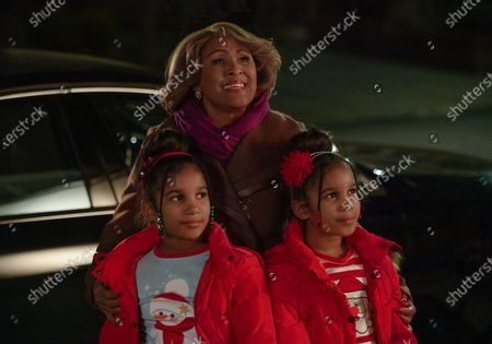 Stock Picture of Andrea-Marie Alphonse as Evie Williams, Darlene Love as Aunt Jo Robinson and Selena-Marie Alphonse as Gabby Williams
