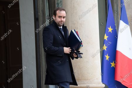 Stock Picture of Sebastien Lecornu, Minister attached to the Minister for Territorial Cohesion and Relations with Territorial Communities