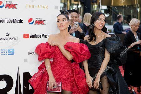 Lisa Origliasso and Jessica Origliasso of The Veronicas