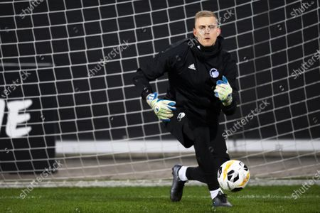 Stock Picture of FC Copenhagen's goalkeeper Karl-Johan Johnsson performs during his team's training session in St. Gallen, Switzerland, 27 November 2019. FC Copenhagen will face FC Lugano in their UEFA Europa League group stage soccer match on 28 November 2019.