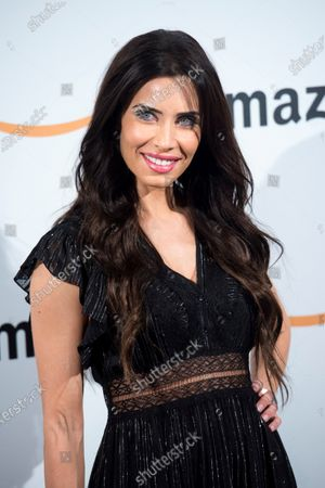 Pilar Rubio poses during the pop-up Amazon event to celebrate the Black Friday at the Callao City Lights building in Madrid, Spain, 27 November 2019.