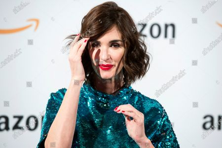 Paz Vega poses during the pop-up Amazon event to celebrate the Black Friday at the Callao City Lights building in Madrid, Spain, 27 November 2019.