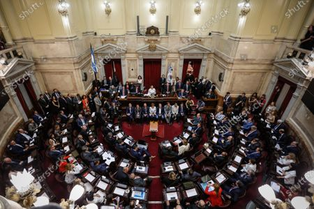 Editorial picture of Argentine elect senators swear their position, Buenos Aires, Argentina - 27 Nov 2019